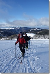 Almost there (Ski touring Feldberg)