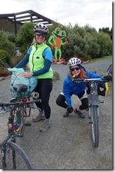 At the Whistling Frog (Cycle touring Catlins Jan 2014)