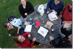 Happy fish and chip eaters (Halswerl Quarry)