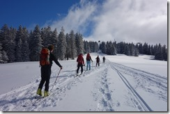 Heading up to Feldberg (Ski touring Feldberg)