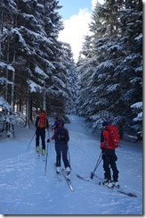 On skis (Ski touring Feldberg)