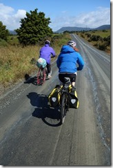 Riding on gravel (Cycle touring Catlins Jan 2014)