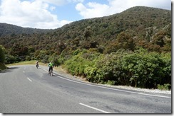 Riding on the Chaslands Highway.