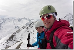 Us at the summit 2 (Ski touring Potsdamer Hütte)