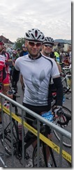 Cris at the start line 2 (Eddy Merckx Classic 2014)