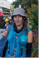 Leonie before the race (Jungfrau Marathon 2014)