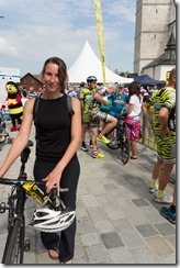 Leonie with bike (Eddy Merckx Classic 2014)