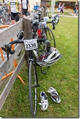 Our bikes after the race (Tannheimer Tal Radmarathon 2014)