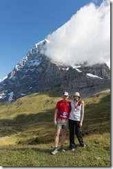Posing after the race (Jungfrau Marathon 2014)