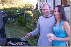 Cris and Leonie at the BBQ (Golden Bay Dec 2014)