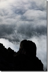 Cross and funky clouds (Three Sisters Oct 2014)