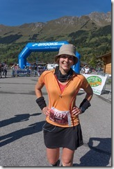 Leonie just after finishing (Humani Trail 2014)