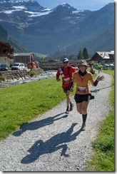 Leonie nearing the finish line (Humani Trail 2014)