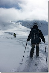 Skiing down (Ski Touring Wöster Horn Feb 2015)