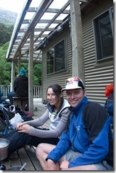 Leonie and Cris at Young Hut 2 (Rabbit Pass Tramp Dec 2014)