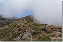 Tramping in the mist (Mt Somers)