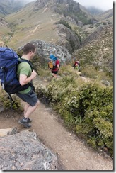 Descending to the hut (Woolshed Creek Tramp)