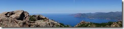View out to sea (Corsica)