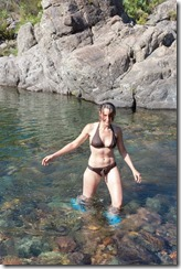 Leonie in the water (Corsica)