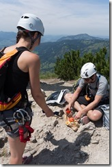 Mmm lunch time (Salewa Klettersteig 2015)