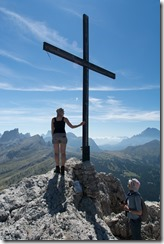 At the top of Sas de Stria (Dolomites, Italy)