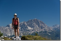 Leonie and mountains (Dolomites, Italy)