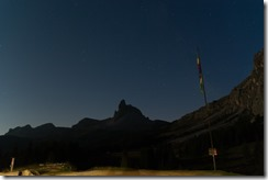 Night time at Rig. Croda da Lago (Dolomites, Italy)