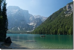 View over the lake 2 (Dolomites, Italy)