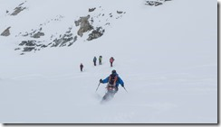 Sigi descending from Similaun (Ski touring Martin Busch Huette)