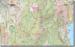 Map - Klettersteig and camping near Trento