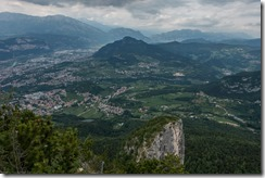 View out towards Trento (Summer holiday 2015)