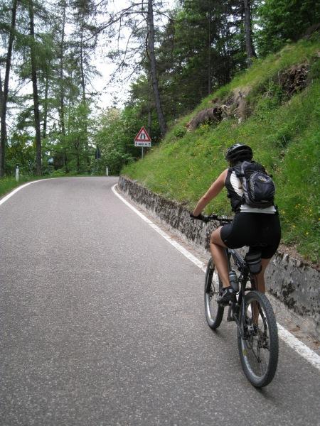 Frauke on road (Lago di Garda)