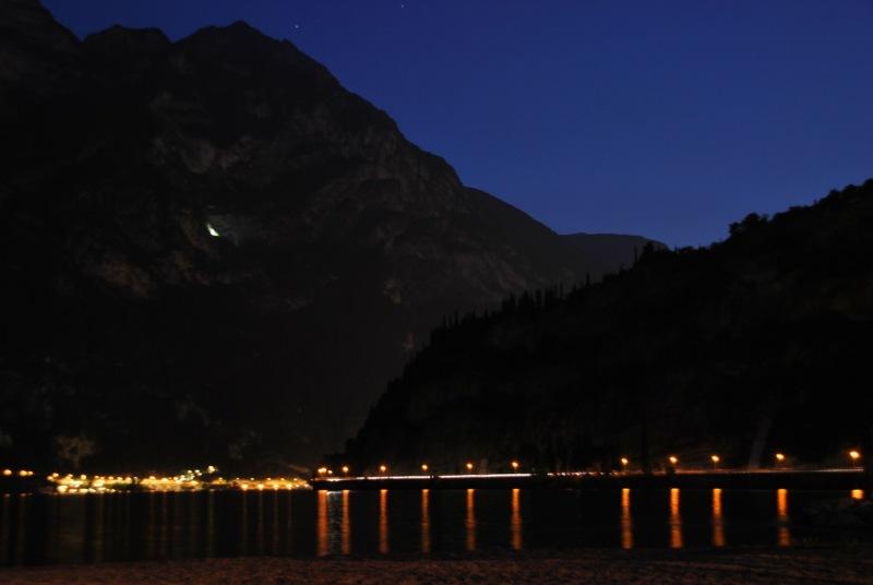 View across lake at night 2 (Lago di Garda)