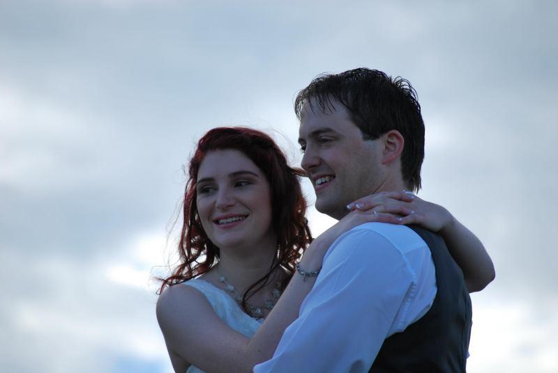 A married couple (Simon and Anita's Wedding)