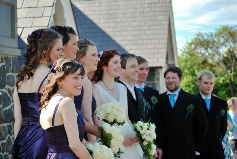 All dressed up (Simon and Anita's Wedding)