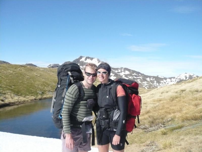 Cris and Frauke (Lewis Pass Tops)