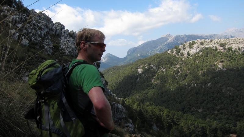 Cris in the hills (Mallorca)