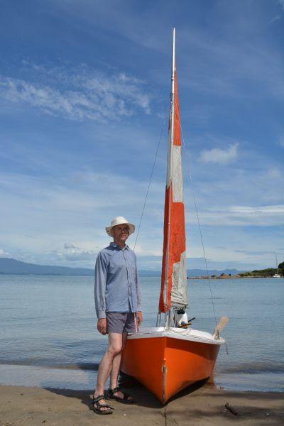 A stern man and his boat (Takaka 2013)