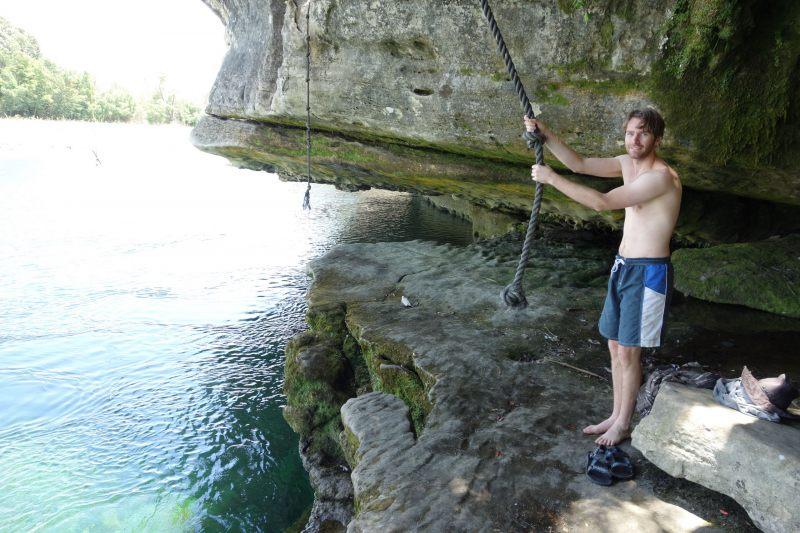 Brendan about to swing (Takaka 2013)