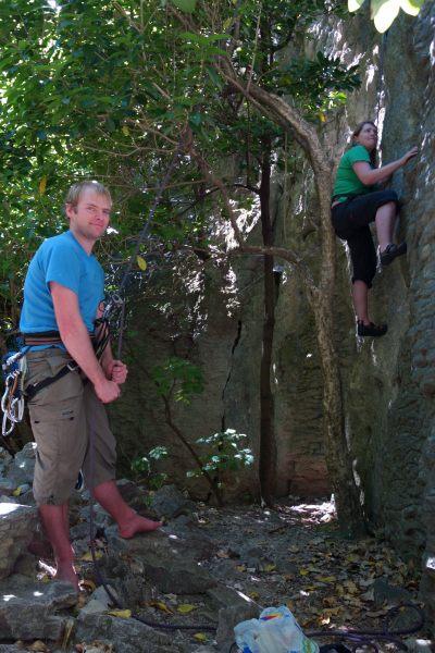 Climbing with Holly (Takaka 2013)