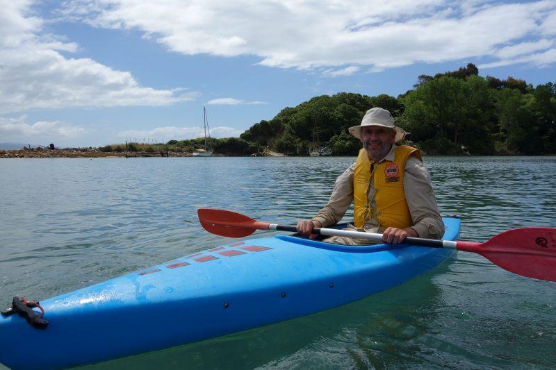 Dad kayaking (Takaka 2013)