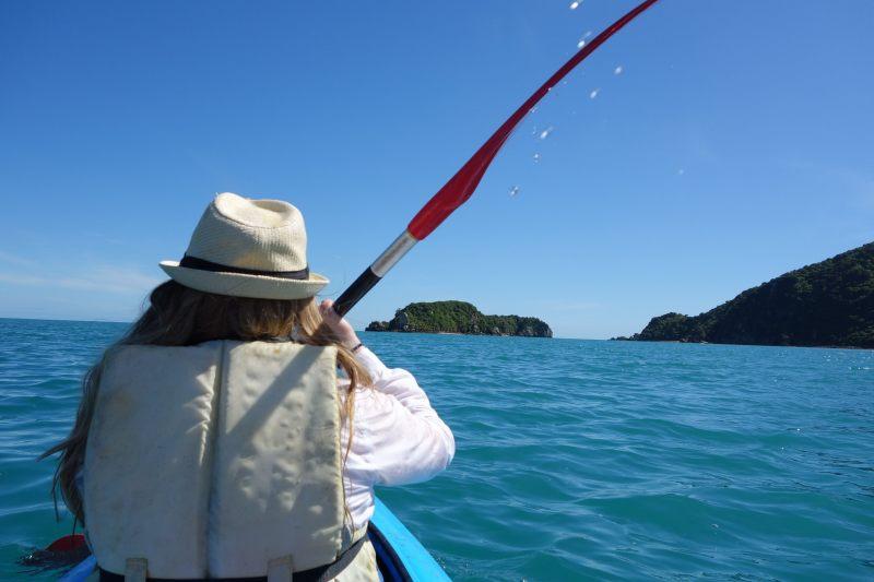 Holly kayaking (Takaka 2013)