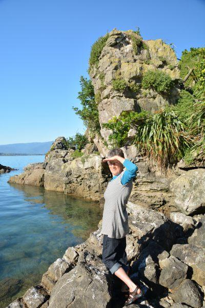 Mum on Tata Islands (Takaka 2013)