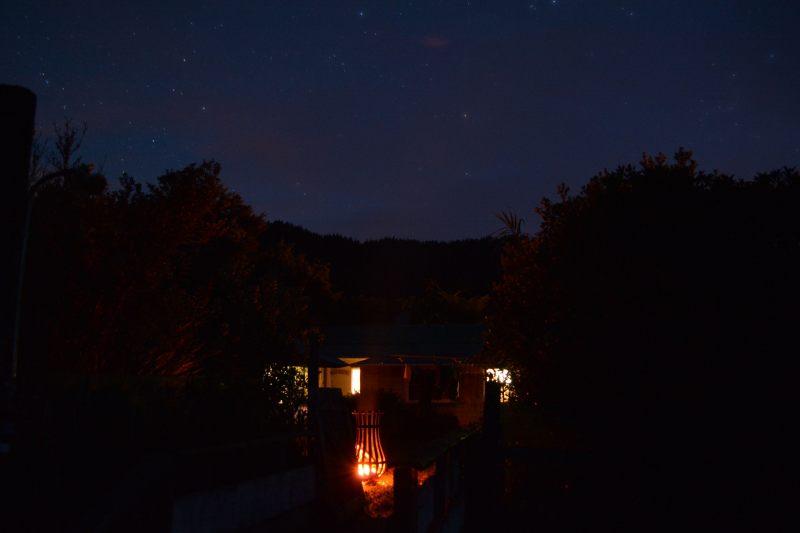 Night time at the bach (Takaka 2013)