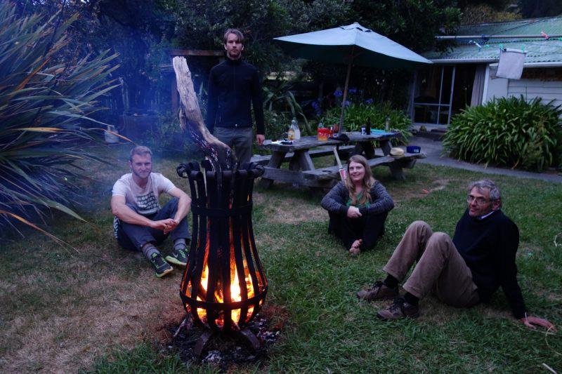 Sitting by the fire (Takaka 2013)