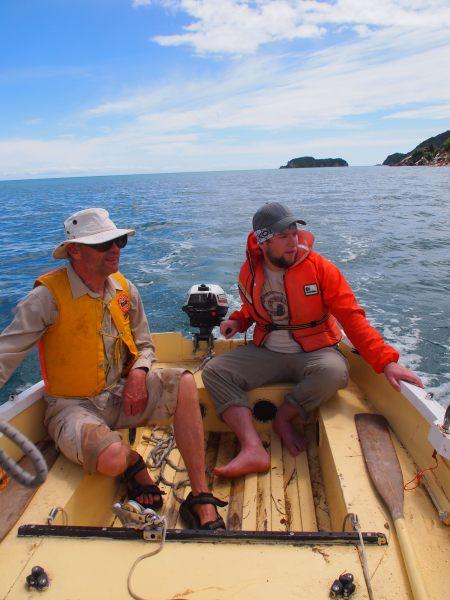 Toby and dad roam the seven seas (Takaka 2013)