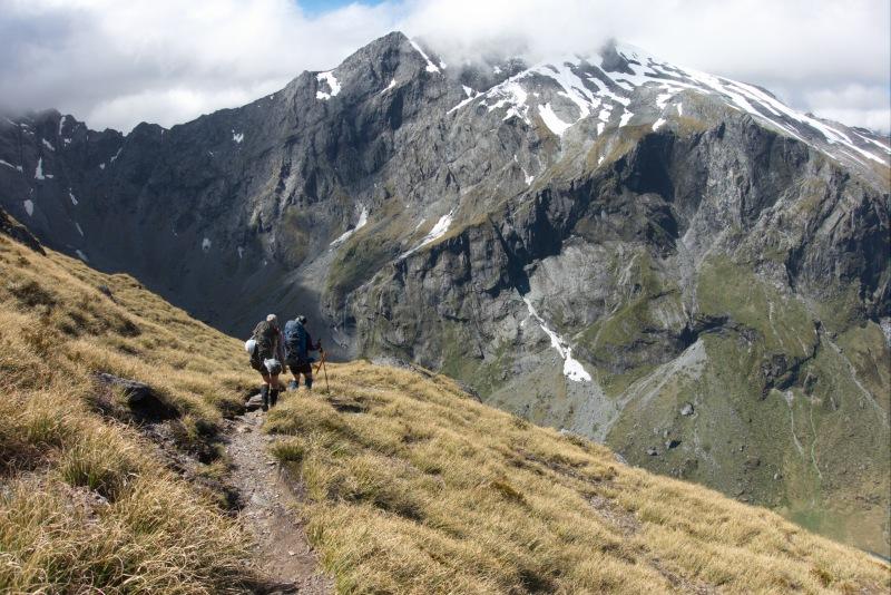 Beginning to descend from Gillespie Pass (Rabbit Pass Tramp Dec 2014)