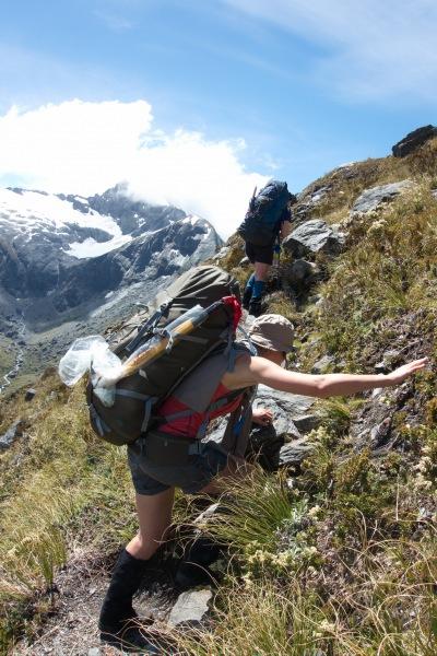 Climbing up (Rabbit Pass Tramp Dec 2014)