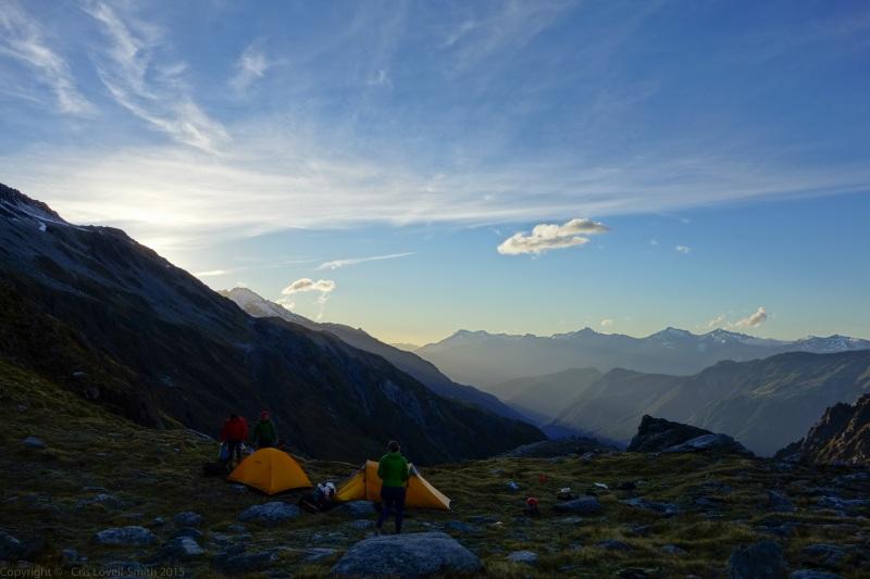 Evening at camp 2 (Hopkins Valley Tramp Jan 2015)