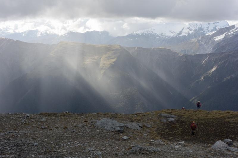 Vanishing over the ridge (Hopkins Valley Tramp Jan 2015)